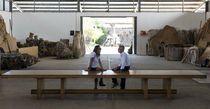 Mesa de conferencia / moderna / de madera / de interior