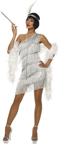 Dazzling Silver Flapper Costume - Flapper Costumes