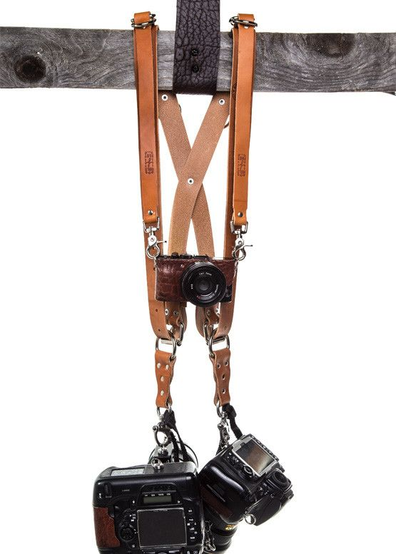 MONEY MAKER - LUXURY LEATHER MULTI CAMERA STRAP. OH YEAH.