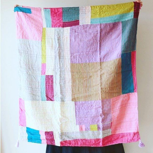 #himarpahar#ちくちく#ガーゼ#刺し子#patchwork#ブランケット#おくるみ#お祝いに#ミンネ#weaving #minne #colorfulbag #colorful#sewing#ハンドメイド#handmaid