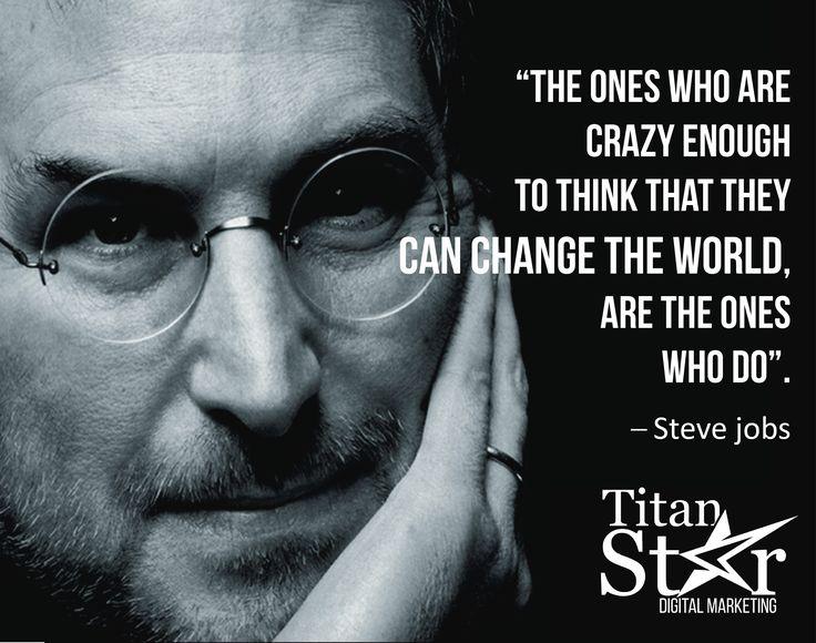 La locura de #SteveJobs fue sin duda lo que cambio al mundo y nos dio #Apple