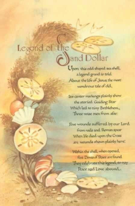 Genius image with legend of the sand dollar poem printable