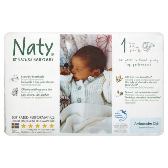 Naty Nature Babycare Size 1 Carry Pack - Boots 2 X 24 size 1 £6  Biodegradable  Chlorine free BOUGHT