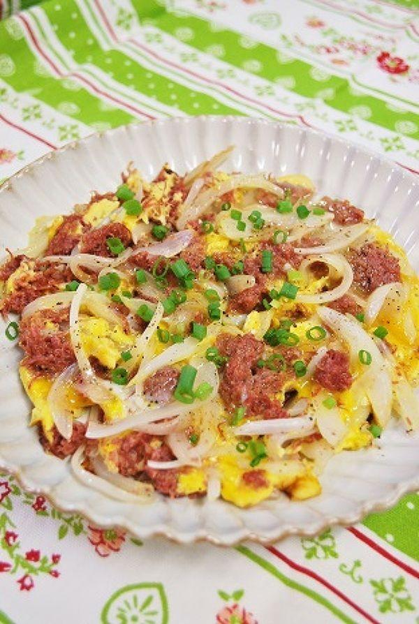 コンビーフと玉ねぎの卵とじ by ☆ayaka☆ | レシピサイト「Nadia ...