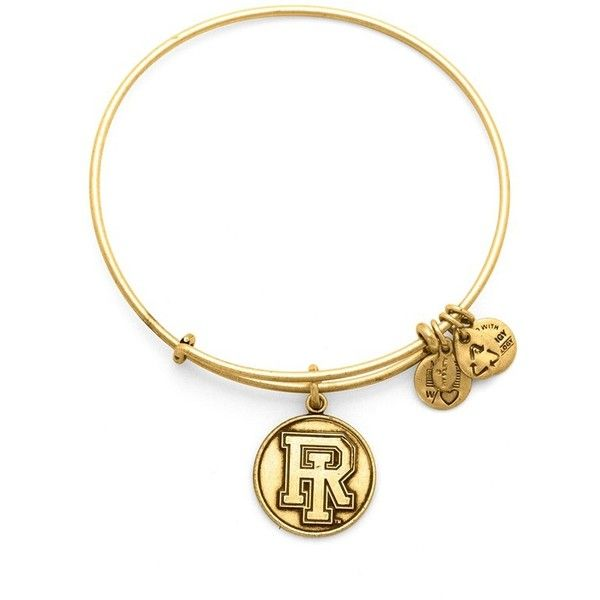 Women's Alex and Ani 'Collegiate - The University of Rhode Island'... ($31) ❤ liked on Polyvore featuring jewelry, bracelets, charm bracelet bangle, heart bangle, metal bangles, charm bracelet and alex and ani