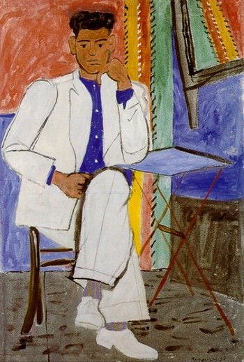 Man in white linen, 1937 by Yannis Tsarouchis.