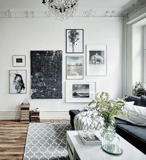 Sử dụng khung ảnh treo tường trang trí tường nhà sang trọng
