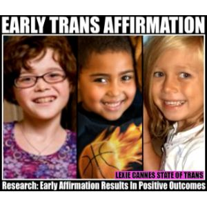 Significant positive impact for transgender youth who affirm gender early
