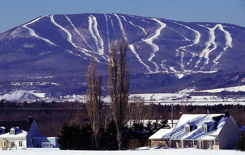 Mont Sainte Anne, Quebec  This place is cool because you can go to the top then ski down the back!