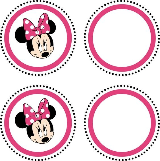 Minnie Mouse Feestje. Gratis spulletjes om zelf uit te printen; Cupcakewrappers, cupcaketoppers en allerlei ander leuk spul! - Plazilla.com