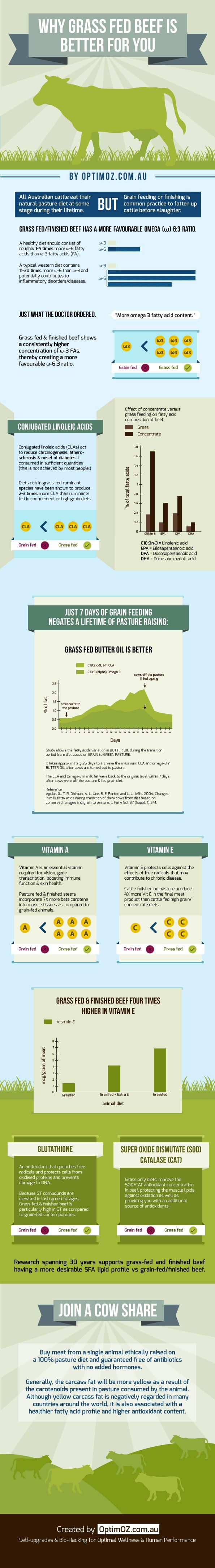 Buy organic beef - Why Grass Fed Beef Is Better For You Infographic