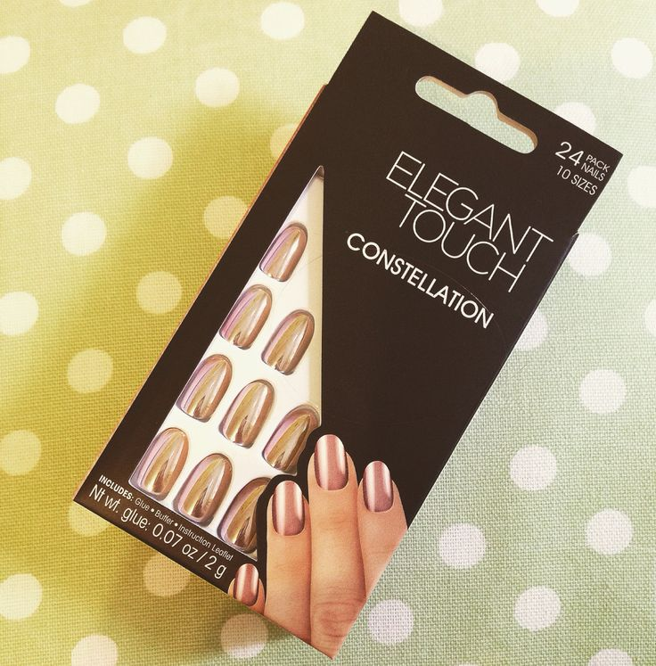 Stunning Rose Gold false nails from the Elegant Touch range. Inexpensive and look beautiful for a special occasion