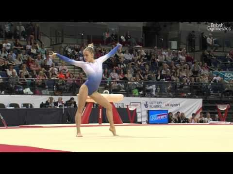 Megan Parker Floor Women's 2017 British Gymnastics Championships - YouTube