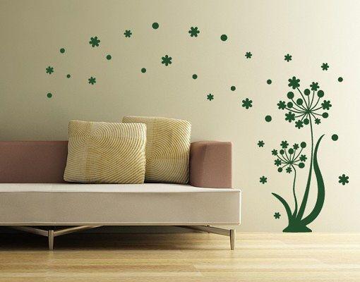Wandtattoo - Wandtattoo Blumen Zärtlichkeit |  Blumen - ein Designerstück von taia-s bei DaWanda
