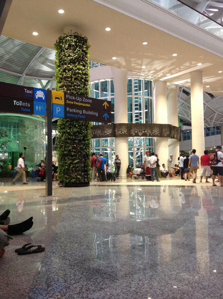 Newly opened international terminal at Bali's Ngurah Rai International Airport.