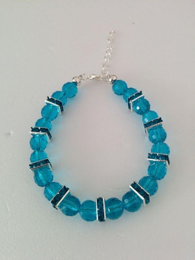 Ladies Blue Crystal Bracelet £5.99