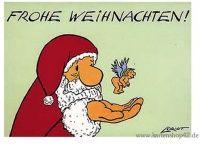 Frohe Weihnachten - Loriot- Weihnachts-Postkarte