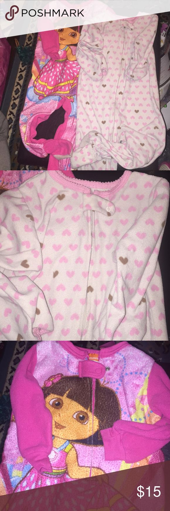 2- PC Footed PJ's Bundle! Cozy & Comfy 2- Pc Footed PJ's! Both Zip-Up! Nickelodeon & (Carter's) Child Of Mine! Both Used Condition & Been Washed Several Times, So Normal Wear/ a Lil Piling From Clothes Dryer! No Holes! No Trades/PP Nickelodeon One Pieces Footies