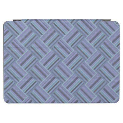 Blue-grey diagonal stripes weave pattern iPad air cover  $44.95  by Wallpaper17  - custom gift idea