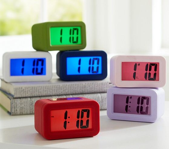 Durable Alarm Clock Cool Color Light Up Display School