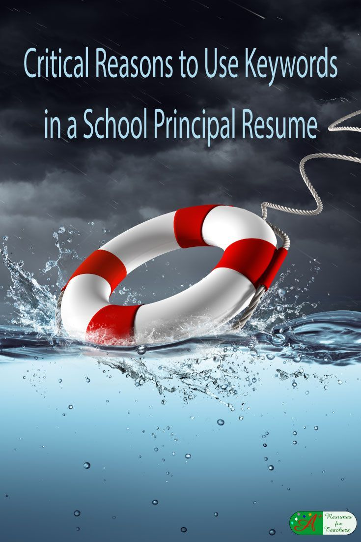 Critical Reasons to Use Keywords in a School Principal Resume [Examples]  Using the correct keywords in a school principal resume is critical to job search success. Resumes are frequently screened by applicant tracking systems. Resume design and using the correct keywords will help your resume get to the human eye.  via   @https://www.pinterest.com/candacedavies1/