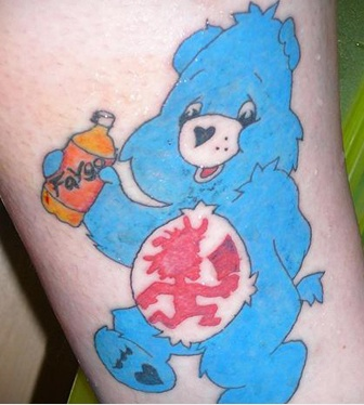 erasetheink-md:  Aww, some terribly-done Detroit tattoo pride! Love the Faygo!    juggalos r the worst,, this is ridiculous!