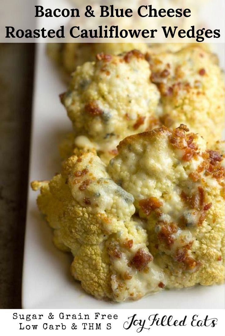 Blue apron keto - Bacon Blue Cheese Roasted Cauliflower Wedges