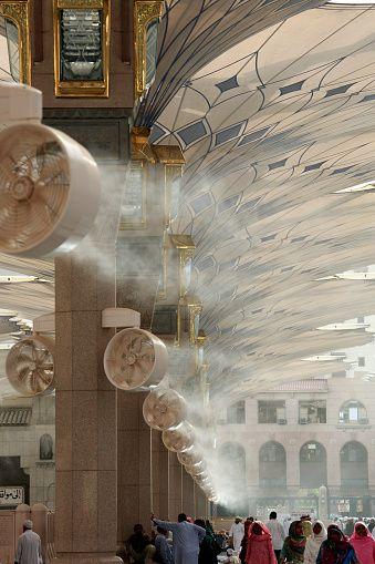 Medina Umbrella Project, Mist Air Cooling