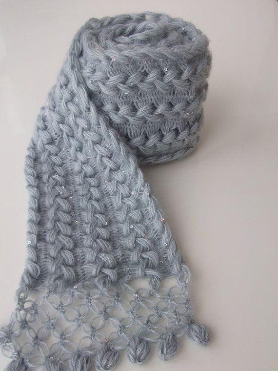 Horquilla encaje ganchillo bufanda / encaje Hairpin por modishknit