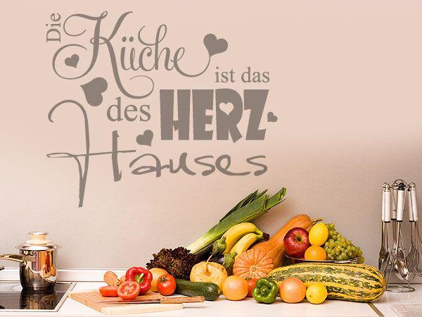 Schönes Wandtattoo für die Küche: Die Küche ist das Herz des Hauses.                                                                                                                                                                                 Mehr