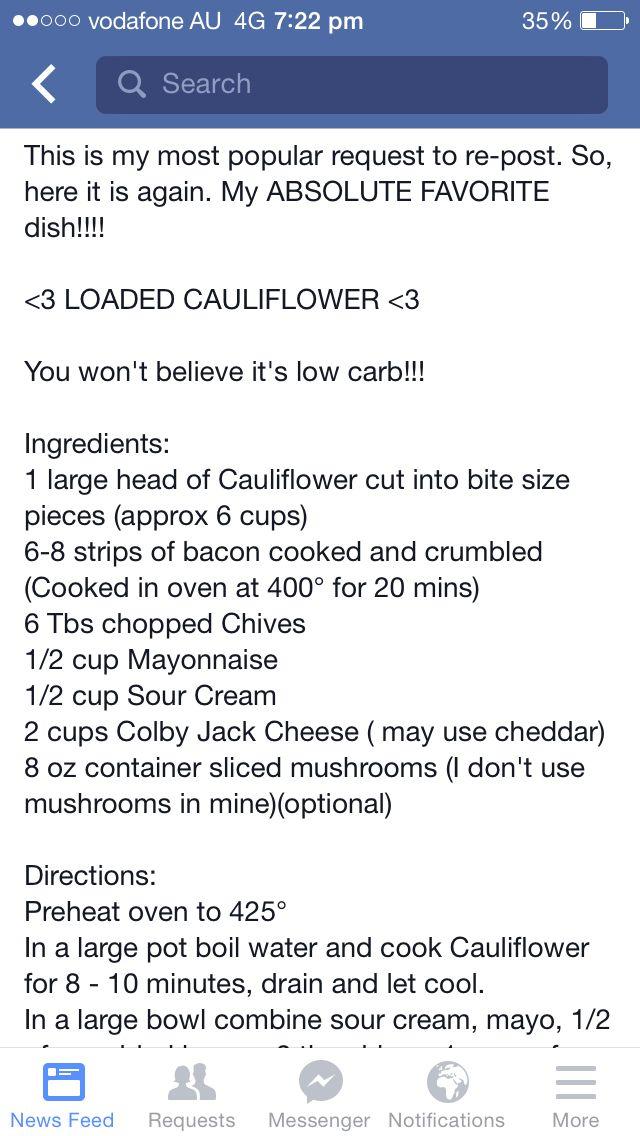 Loaded cauliflower bake 1