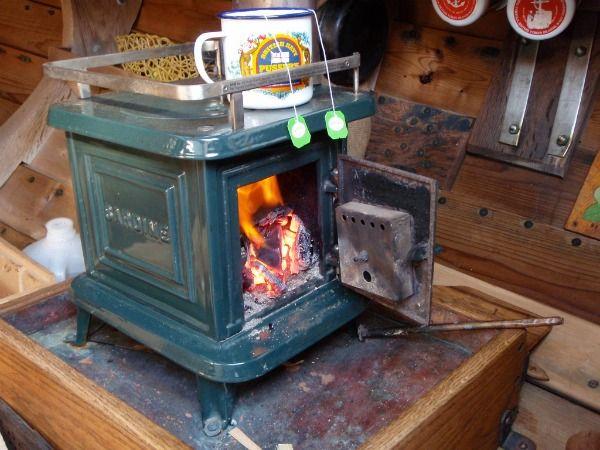 Tiny wood stove. 7500-18000BTU.