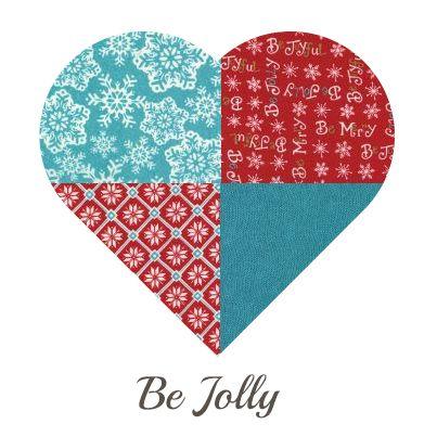 Yosonline Quiltstoffen / Quilt Fabrics - Be Jolly