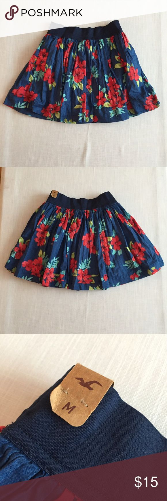 NWT Floral Hollister Skirt New with tags tropical floral skirt from Hollister. Hollister Skirts Circle & Skater