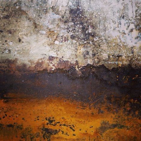 Memory .Mixed media on cavas by Carolina Iturrospe