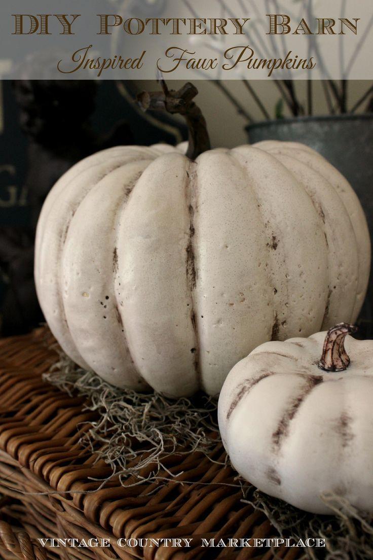 DIY Pottery Barn Inspired Pumpkins - Using Dollar Store Pumpkins! http://gingerandcompany.com/catalog.php?category=28
