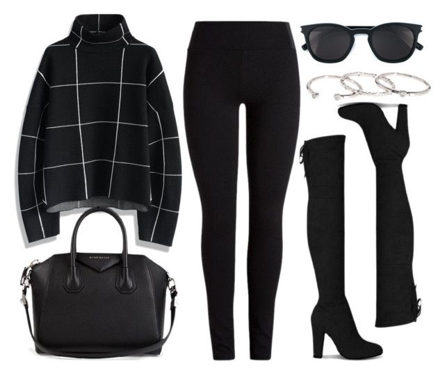 """""""Style #11386"""" by vany-alvarado ❤ liked on Polyvore featuring Chicwish, Givenchy, Yves Saint Laurent and Gorjana"""
