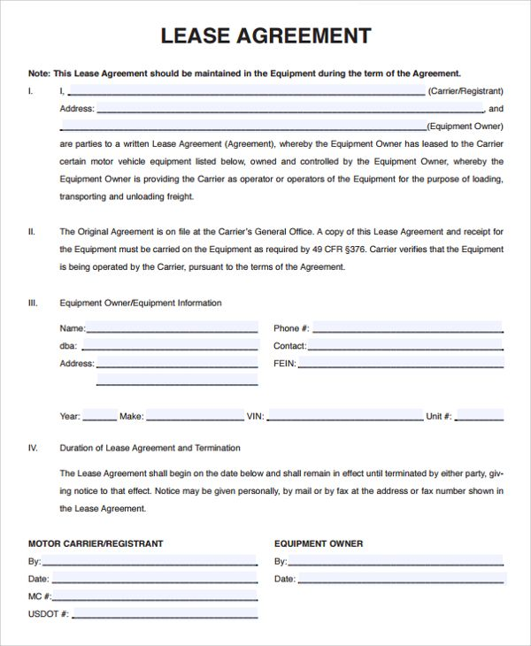 Pin On Lease Agreement Free Printable