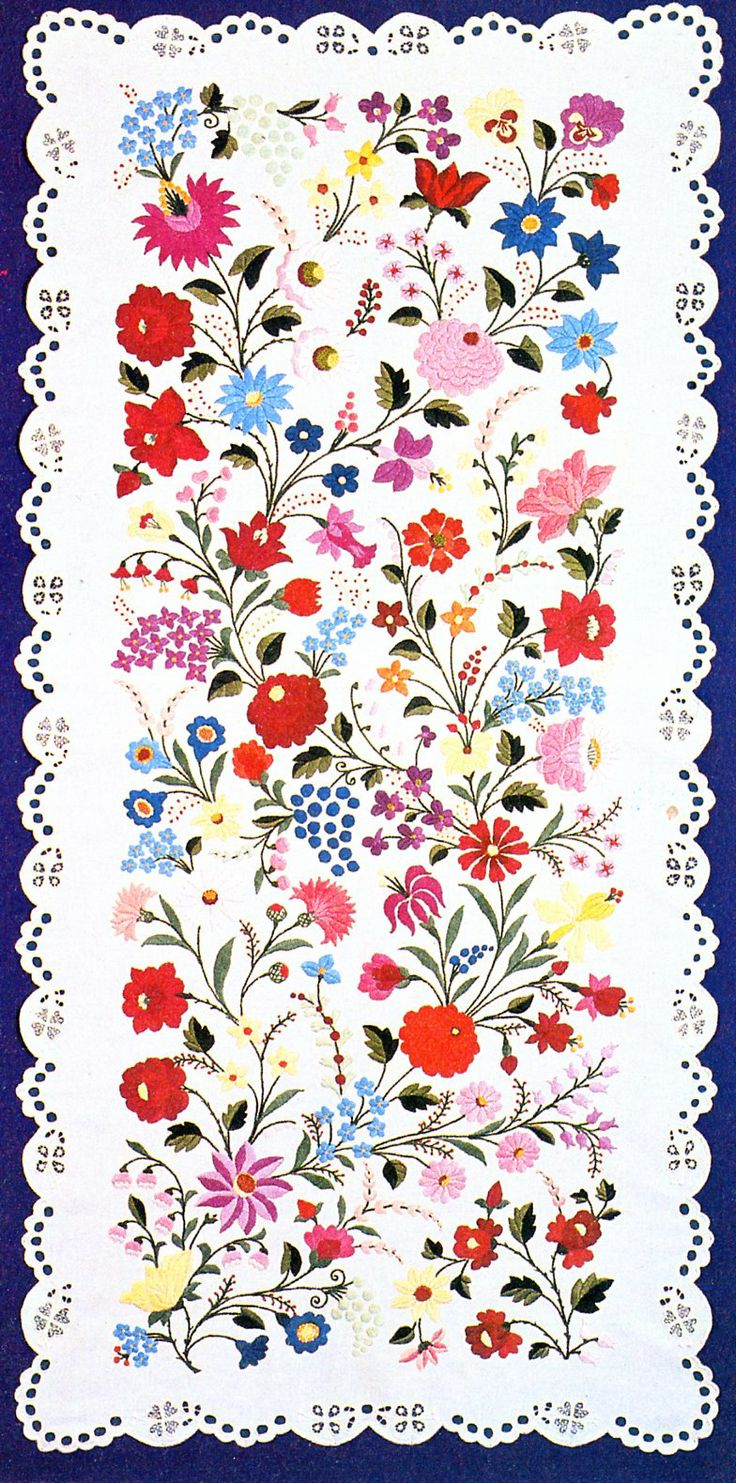 Embroidery of Kalocsa, Bács-Kiskun county, Hungary    Great page!