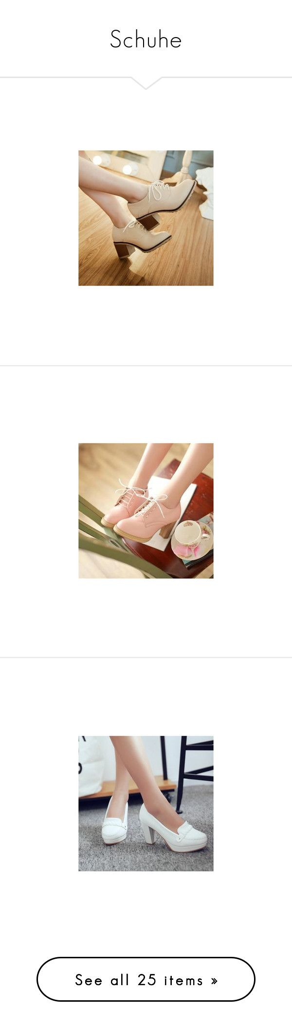"""""""Schuhe"""" by jara-richter ❤ liked on Polyvore featuring shoes, pumps, footware, white oxford pumps, oxford pumps, oxford shoes, white pumps, pastel shoes, boots and heels"""