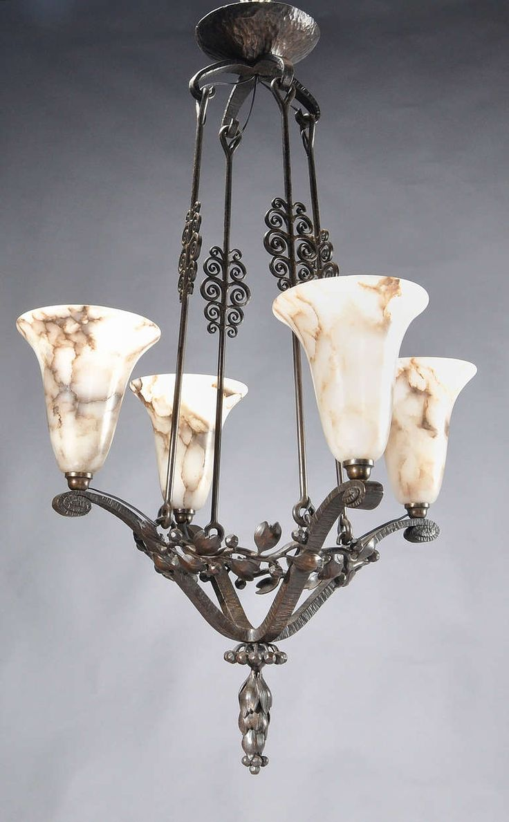 26 best pics of lamps found on the web images on pinterest art edgar brandt wrought iron alabaster chandelier arubaitofo Choice Image