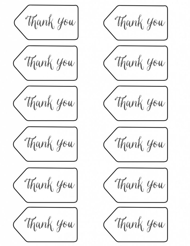 Best  Thank You Tag Printable Ideas On   Thank You