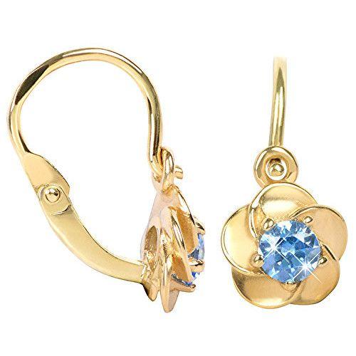 Brilio Copii cercei floare cu cristale albastre 236001 00,954-1.00 g