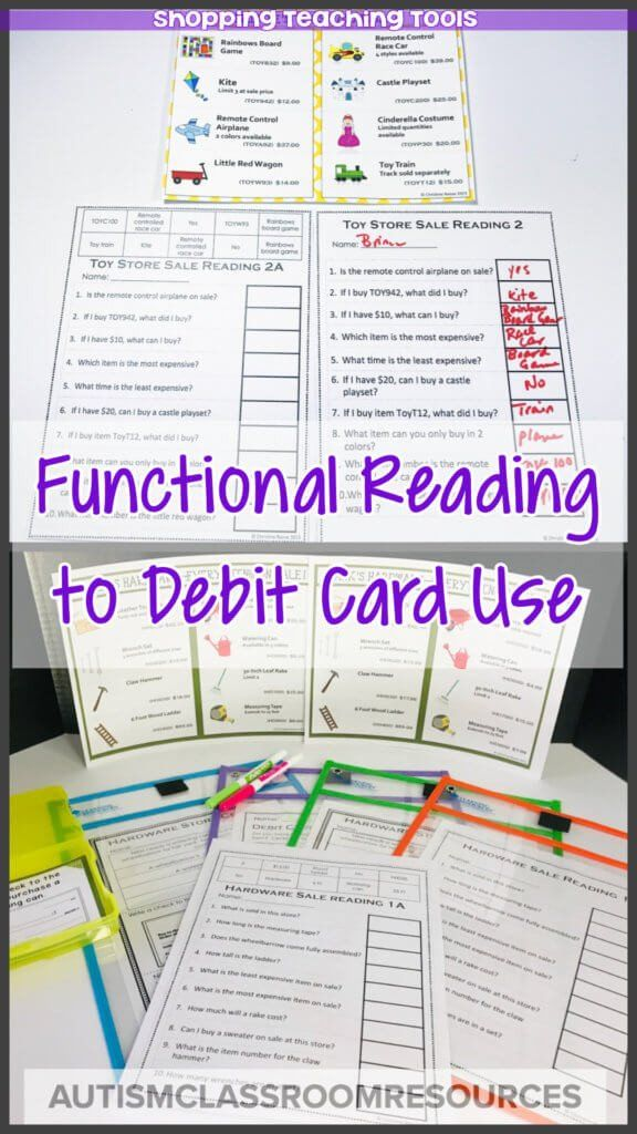 Functional Math Worksheets Special Education Tools For Teaching Functional Literacy And Real In 2020 Real Life Math Special Education Math Special Education Activities