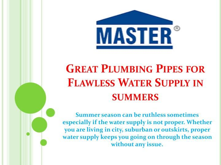 Choose plumbing pipes that are of right diameter and material, hence it can bear the pressure of water supply in the fields and in your dorms of your animals. You may not need water supply throughout the day but whenever it is required, the pipes should be able to withstand the pressure. \n