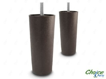 Choice Parts 5 Inch Dark Walnut Plastic Sofa Legs Pack Of 2 Replacement Feet 5 16 Size Bolt
