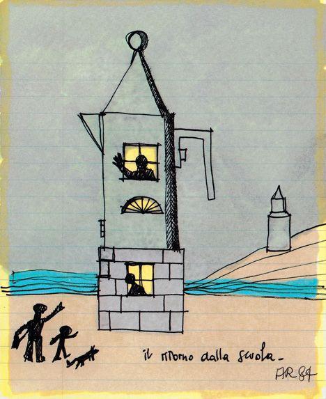 Product design + whimsy. (La Conica espresso maker by Aldo Rossi for Alessi.)