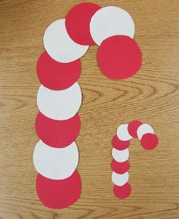 Simple Candy Cane Circle Craft for Preschool.