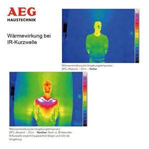 AEG 229955 Radiateur radiant à infrarouge à ondes courtes IR Comfort 2024 IP 24 Blanc 2000 W 230 V