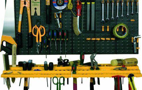 Garage mur outil Kit de rangement outils organiseur Maison Étagères Y Compris 50crochets: Cet article Garage mur outil Kit de rangement…